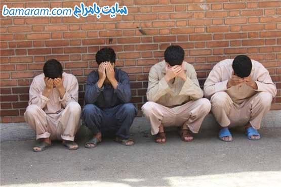 پسر مردان متجاوز زندانی حیاط بازداشتگاه