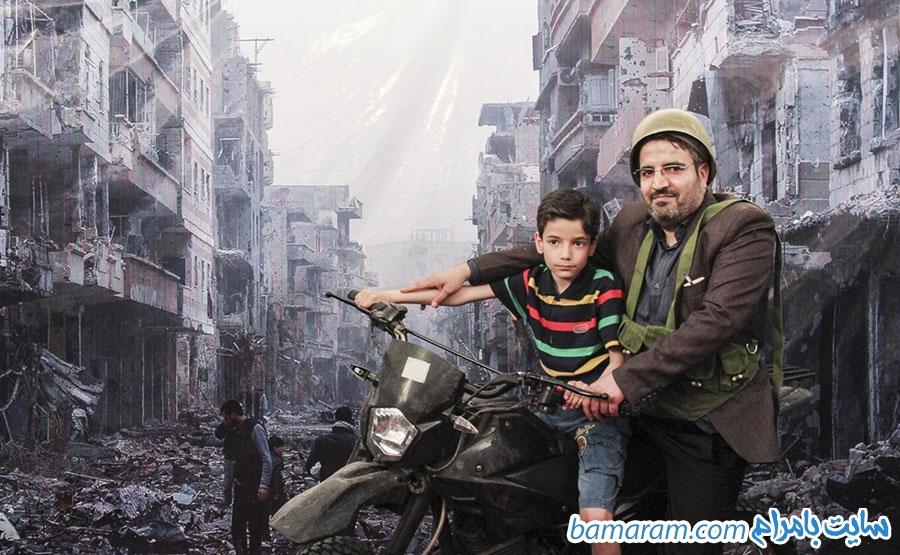 خرابه های سوریه نمایشگاه کتاب مدافعان حرم