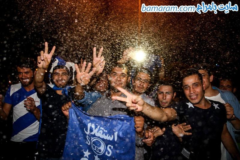 استقلال خوزستان هواداران جشن و پایکوبی رقص در خیابان