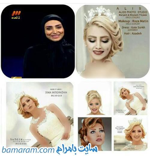 الهام عرب مدل معروف ایرانی مدل عروس ماه عسل عکس باحجاب الهام عرب