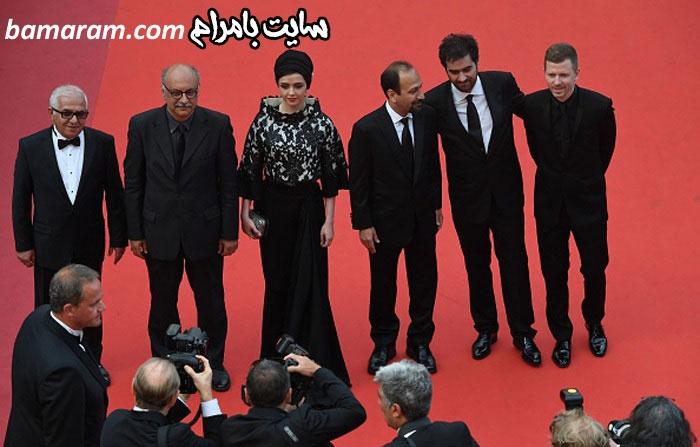 شهاب حسینی جشنواره کن فیلم فروشنده اصغر فرهادی فرش قرمز
