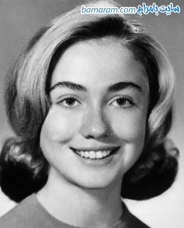 جوونیای هیلاری کلینتون دختر خوشگل آمریکایی