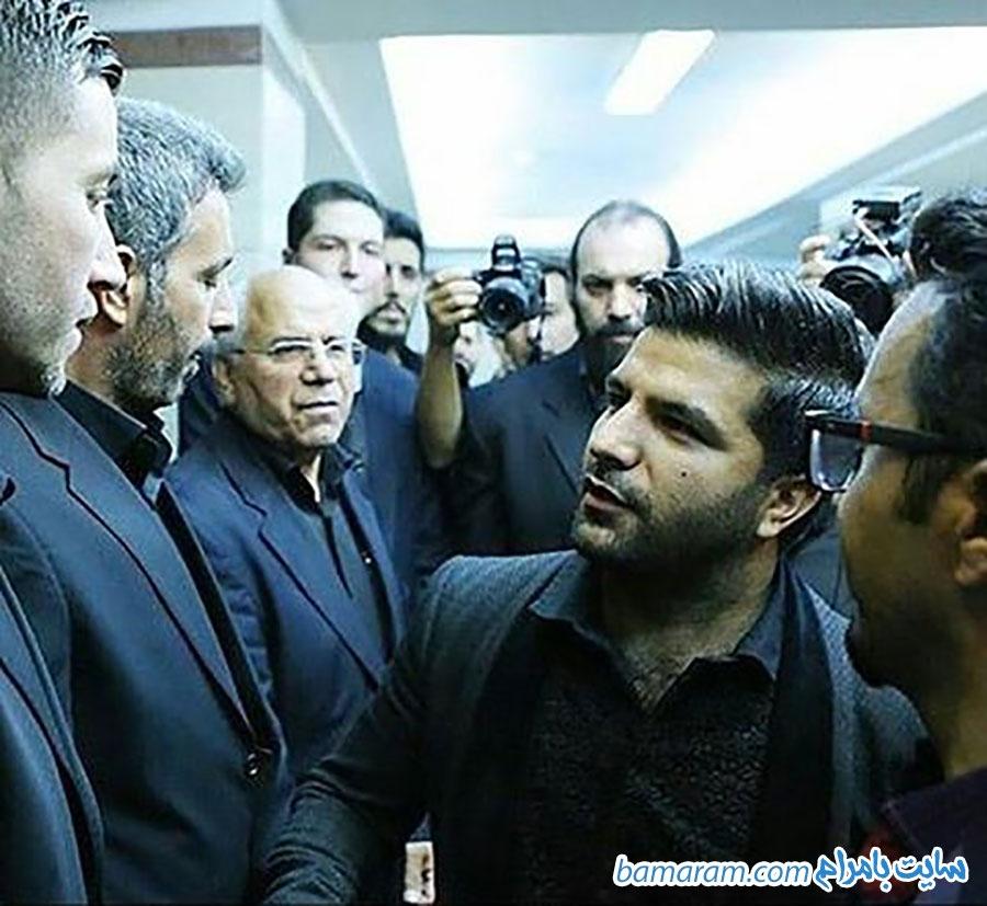 مراسم ختم حبیب در تهران محمد پسر حبیب در تهران مجید خراطها در مراسم حبیب