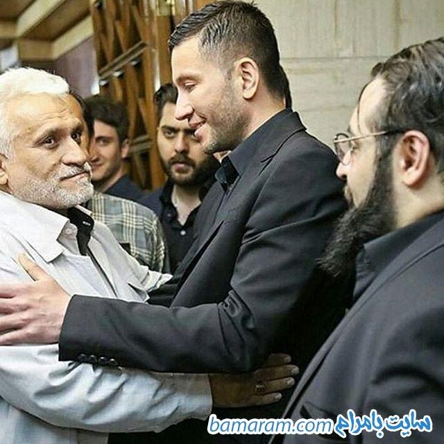 مراسم ختم حبیب  در تهران پدر مرتضی پاشایی در مراسم حبیب
