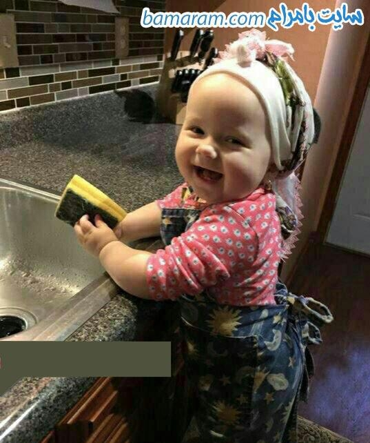 دختر بچه بانمک و ناز طنز