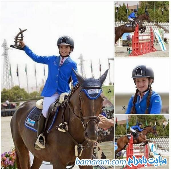 دختر بشار اسد شام اسد قهرمان اسب سواری