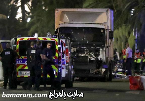 داعش در فرانسه حملات تروریستی در فرانسه حمله کامیون داعشی به مردم فرانسه نیس
