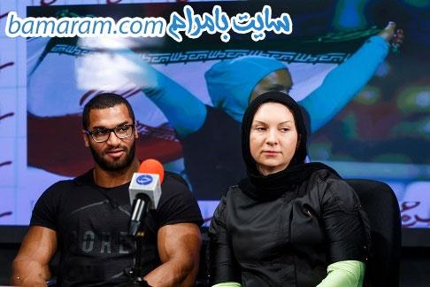 پیمان رجبی لیلا رجبی پرتاب وزنه المپیک ریو