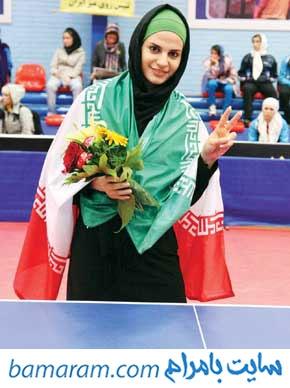 ندا شهسواری خانم لیموچی قهرمان پینگ پنگ ایران مسابقات المپیک ریو