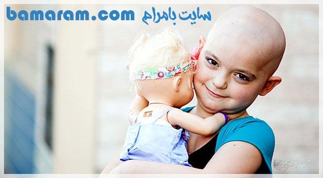 دختر بچه سرطانی